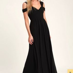 Lulu's Make Me Move Black Maxi Dress